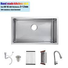 stainless steel kitchen sink sizes 68 43 cm undermount 304 stainless steel kitchen sink hand made