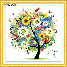 aliexpress buy zozack needlework dmc cross stitch kit