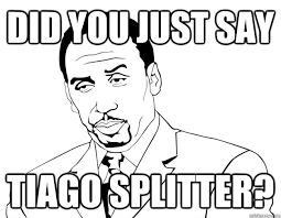 Stephen A Smith Memes - did you just say tiago splitter stephen a smith quickmeme