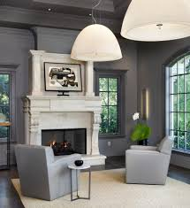 Glass Side Tables For Living Room Dark Gray Window Trim Living Room Transitional With Fireplace