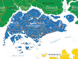 Singapore Map Asia by Singapore Map Stock Vector Art 175564741 Istock