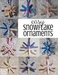 easy popsicle stick snowflake ornaments for preschoolers feels