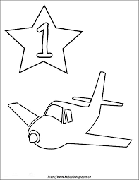 9 numbers images kids numbers colouring