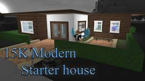 lets build bloxburg modern starter house youtube