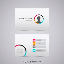 Minimal Design Business Cards Minimalist Business Card With Man Silhouette Vector Free Download