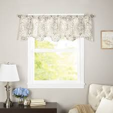 Sheer Valance Curtains Charlton Home Terrence Curtain Window Valance Reviews Wayfair