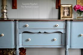 stillwater blue sideboard before and after