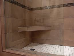 accessories amazing wood shower bench with tile flooring and hole