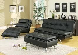 contemporary 3 pc black vinyl sofa set by coaster