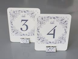 free table number templates diy binder clip table card holders