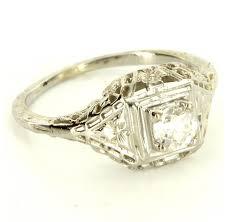 antique filigree diamond ring wedding promise diamond
