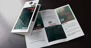brochure psd template 3 fold psd tri fold mockup template vol2 psd mock up templates pixeden