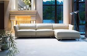 Nixon Leather Sofa Living Room The Pumpkin Color Anson Sofa Black And Grey Ottoman