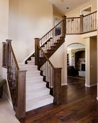 Stair Banisters Railings Best 25 Wood Railings For Stairs Ideas On Pinterest