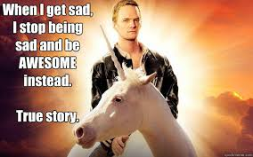 Memes About Being Awesome - nph unicorn memes quickmeme