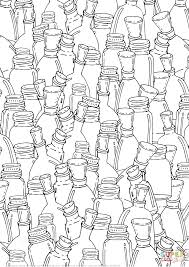 bottles with corks pattern coloring page free printable coloring