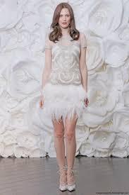 naeem khan fall 2015 mini a line wedding dress with an ostrich