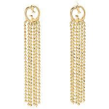 18k gold earrings gucci 18k gold 1 5 tassel drop earrings