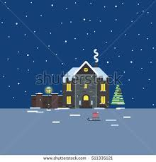 Winter House Winter City Stock Vector 600200738 Shutterstock