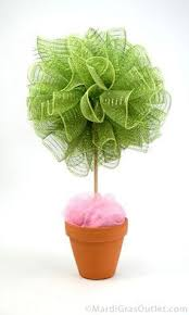 How To Make Ribbon Topiary Centerpieces by Easter Egg And Ribbon Topiary Crafts Sewing Galore Pinterest