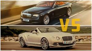 bentley wraith 2016 2016 rolls royce dawn vs bentley continental gt speed