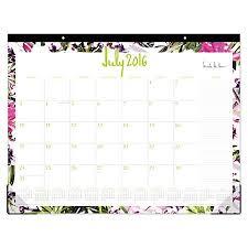 desk pad calendar 2017 nicole miller monthly desk pad calendar 22 x 17 rio july 2016