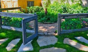 imaginative vegetable garden fence with reclaimed lumber enclosed