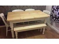 Farm Table With Bench And Chairs Farmhouse Table And Benches Dining Tables U0026 Chairs For Sale