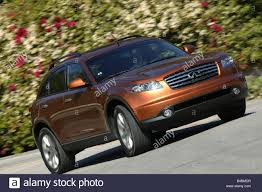 gold nissan car car nissan infiniti fx45 study model year 2003 stock photo
