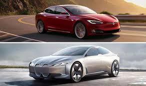 model bmw cars electric car comparison tesla model s vs bmw i vision dynamics