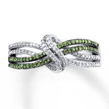 engagement rings green images Kay green diamond ring 1 4 ct tw round cut sterling silver jpg