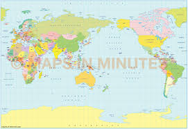 Baffin Bay On World Map by Vector World Political Map In The B S A M Projection Japan