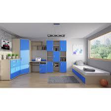 chambre de garcon ado chambre à coucher enfant ado couleur bleu moderne avec de