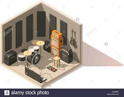vector isometric low poly recording studio icon stock vector art