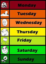 Meme Names And Faces - days of the week meme faces graphic