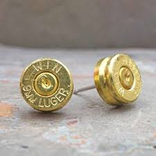 bullet stud earrings best 9mm bullet earrings products on wanelo