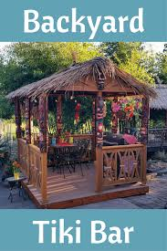 sit back and relax in your own tiki bar and have a tropical oasis