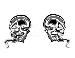 skull tribal tattoo wip by envenomend on deviantart