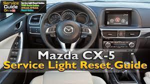 mazda cx 5 service light reset youtube
