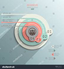 minimalist design infographic on paper style stock vector