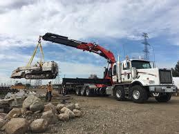 largest knuckle boom picker in alberta encore trucking