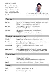 French Resume Example by Resume In French
