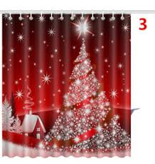 Santa Curtains Discount Christmas Tree Shower Curtain 2017 Christmas Tree