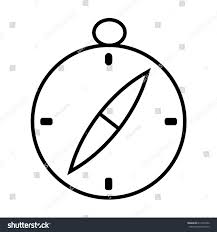 compass outline icon flat design logo stock vector 614270702