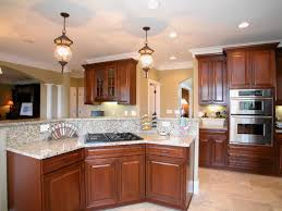 fearful light fixture of open concept kitchen with built in lamps