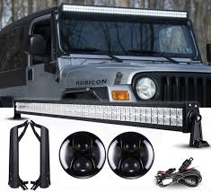 jeep headlights at night jeep tj night back headlights u0026 light bar package leds 4 less