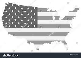 united states map black and white united states map black white color stock vector 439293838