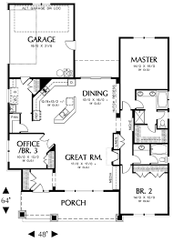 Houses With 2 Master Bedrooms Like The Floor Plan Reversed Without Garage Attached Master