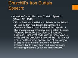 Winston Churchill Iron Curtain Speech Meaning Canada And The Cold War Is It Better To Be A Super Power Or A