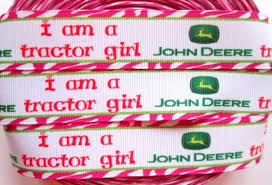 deere ribbon 7 8 printed grosgrain ribbon by the yard deere by ribbons4all